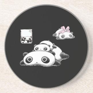 Lazy Pandas Sandstone Coaster