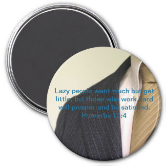 Lazy People 3 Inch Round Magnet