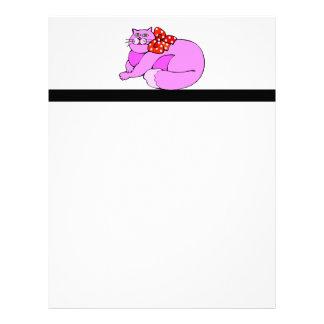 Lazy Pink Cat Letterhead