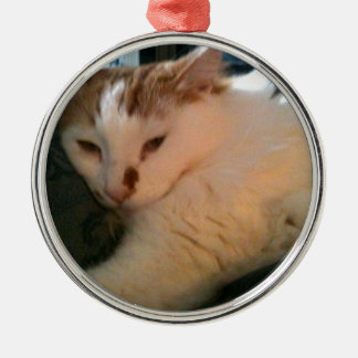 Lazy, Relaxed Cat Metal Ornament