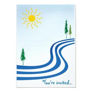 "Lazy River 5"" X 7"" Invitation Card"