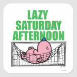 Lazy Saturday Afternoon Square Stickers