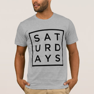 lazy saturday square type tee