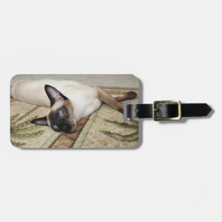 Lazy Siamese Cat Bag Tags