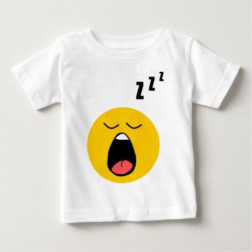 Lazy sleeping smiley baby T-Shirt