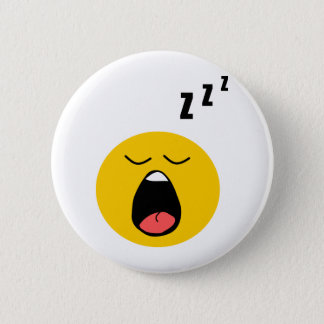 Lazy sleeping smiley pinback button