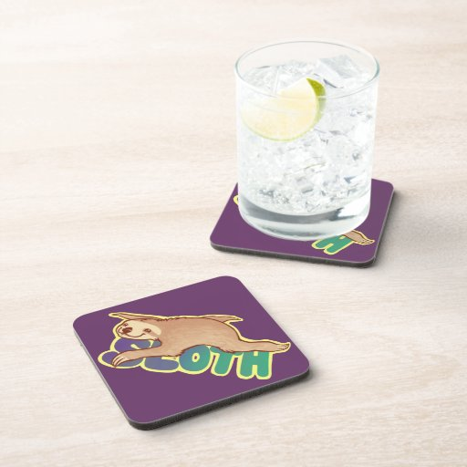 Lazy Sloth Beverage Coasters