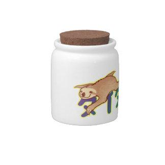 Lazy Sloth Candy Jars