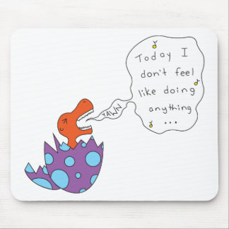 Lazy Song Dino Mouse Pad