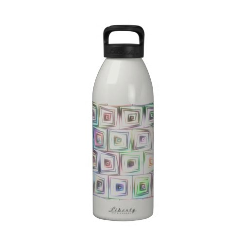 Lazy Squares v.1 Drinking Bottles