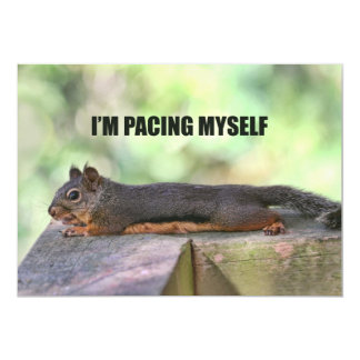 Lazy Squirrel Photo 5x7 Paper Invitation Card