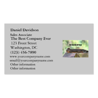 Lazy Squirrel Photo Business Card