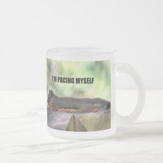 Lazy Squirrel Photo Frosted Glass Coffee Mug