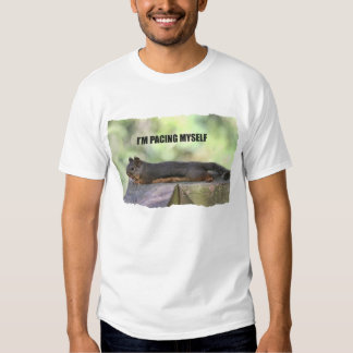 Lazy Squirrel Photo T Shirt