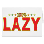Lazy Star Tag Greeting Cards