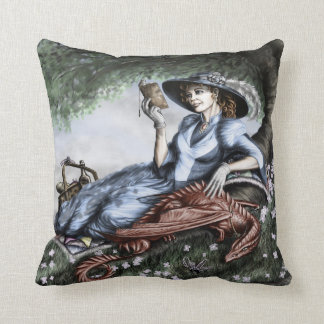 Lazy Summer Reading Throw Pillow