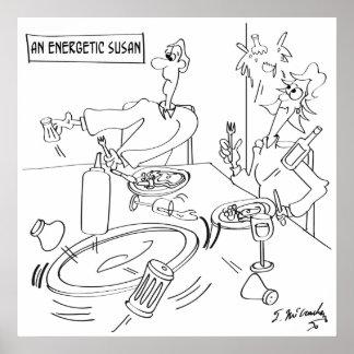 Lazy Susan Cartoon 9351 Poster