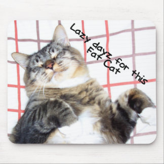 Lazy Tuffy Cat Mouse Pad