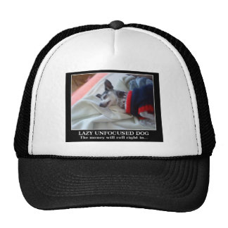 Lazy Unfocused Dog Trucker Hat