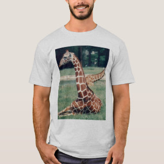 LazyDay Giraffe - ash T-Shirt
