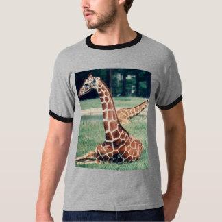 LazyDay Giraffe - gr/blk T-Shirt