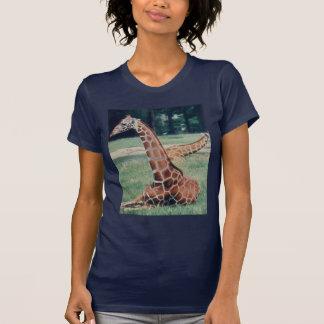 LazyDay Giraffe - navy T-Shirt