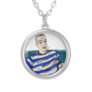 lazyseaman silver plated necklace