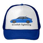 _lb del viggen, relámpago sueco gorros bordados