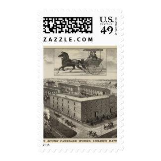 LB Johns' Carriage Works, Abilene, Kansas Postage Stamp