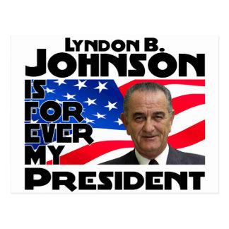 LB Johnson Forever Postcard