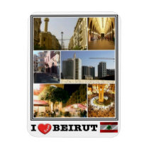 LB Lebanon - Beirut - I Love Mosaic - Magnet