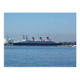 LB Queen Mary Postcard
