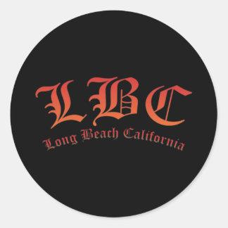 LBC - Long Beach California Classic Round Sticker