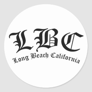 LBC Long Beach California Classic Round Sticker
