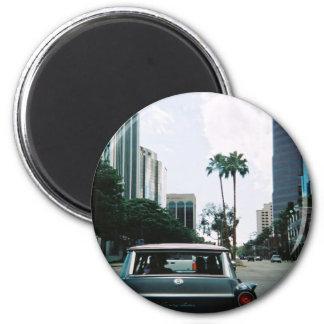 LBC - Long Beach, California 2 Inch Round Magnet