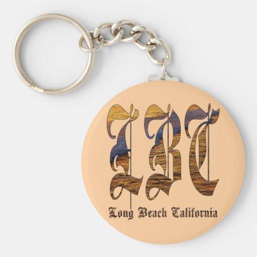 LBC - Long Beach California - océano Llavero Redondo Tipo Pin