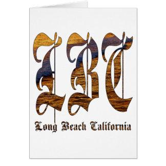LBC - Long Beach California - océano Tarjetón