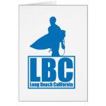 LBC - Long Beach California - Surf - Blue Greeting Card