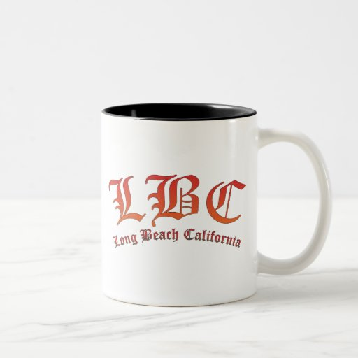 LBC - Long Beach California Two-Tone Coffee Mug
