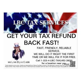LBC TAX SERVICES pro promo postcards