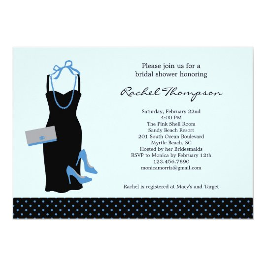 LBD Bridal Shower Invitation