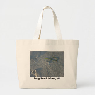 LBI beach Footprint Seaweed in sand - Customized Canvas Bags