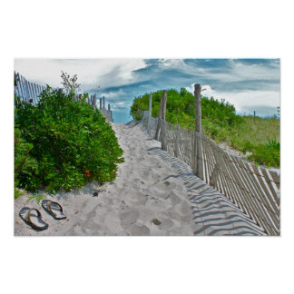 LBI Beach scene Poster