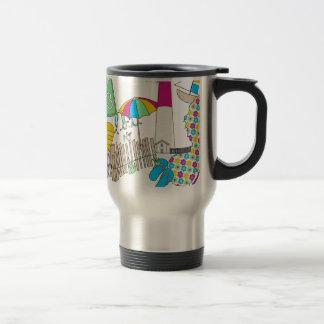 LBI Love Girly Collage Stainless Steel Travel Mug