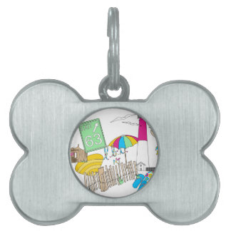 LBI Love Girly Collage Pet Tag