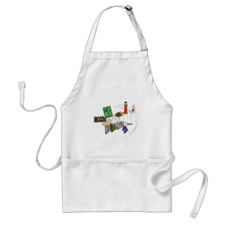 LBI Love Primary Color Collage Adult Apron