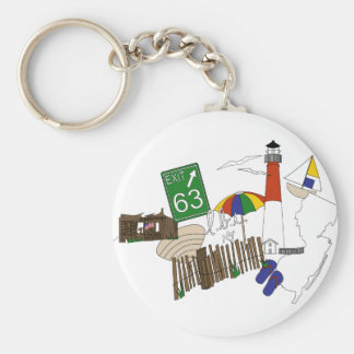 LBI Love Primary Color Collage Keychain