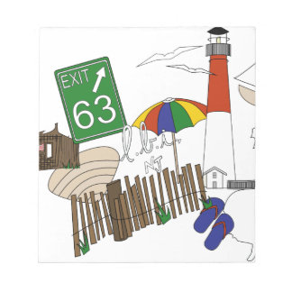 LBI Love Primary Color Collage Notepad
