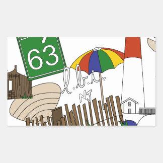 LBI Love Primary Color Collage Rectangular Sticker