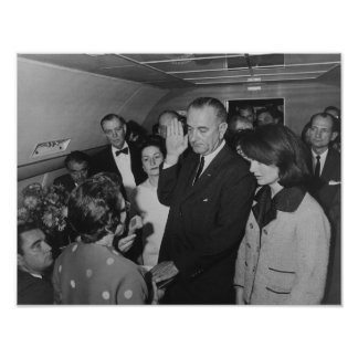 LBJ Taking The Oath On Air Force One Posters